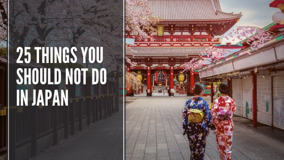25 Things You Should Not Do in Japan   FAIR Study in Japan