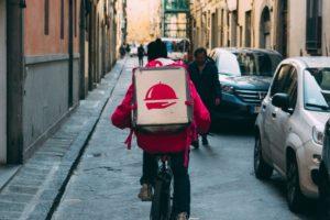 man,biking,delivery