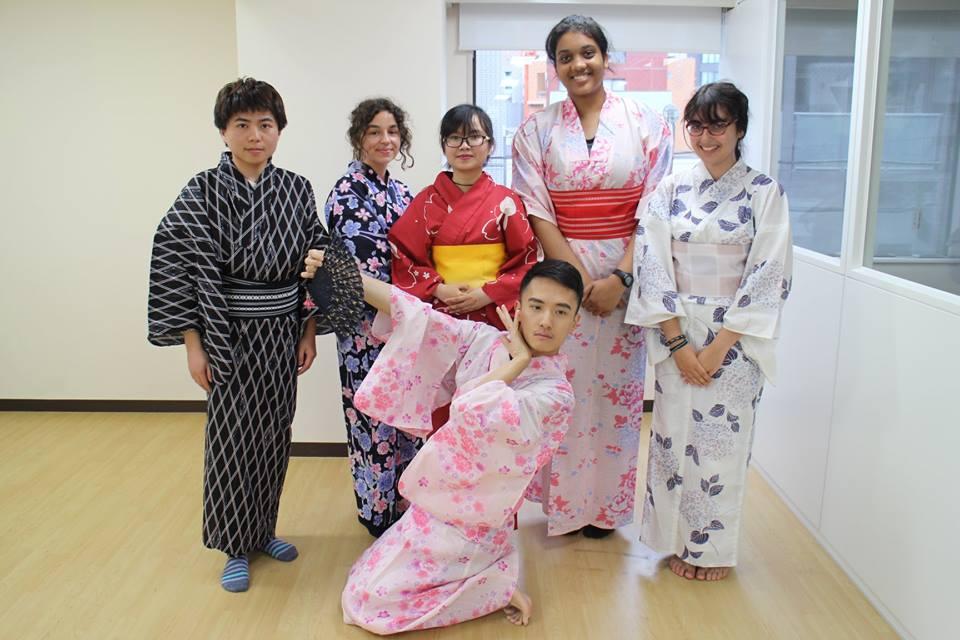 students wearing Kimono